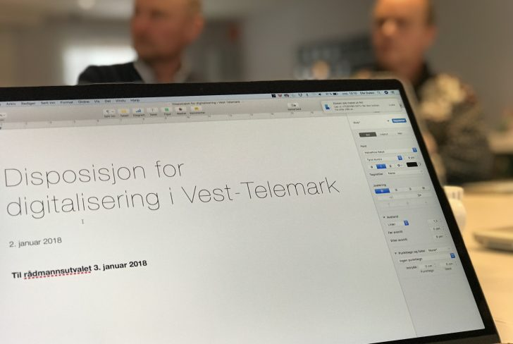 Disposisjon  For  Digitalisering  I  Vest-Telemark